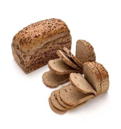 Pan de Molde de Centeno y Linaza
