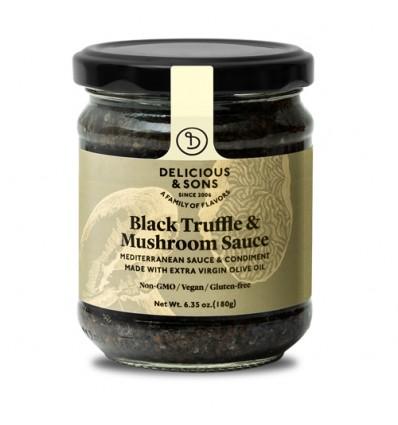 Salsa de trufa negra con champiñones
